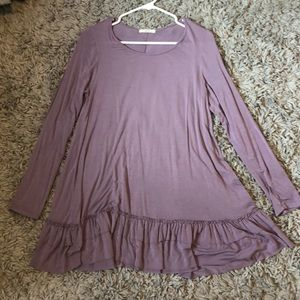 Lavender ruffle bottom tunic